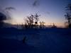 スキー場の朝